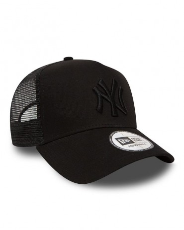 NEW ERA 9FORTY New York Yankees Black On Black Trucker