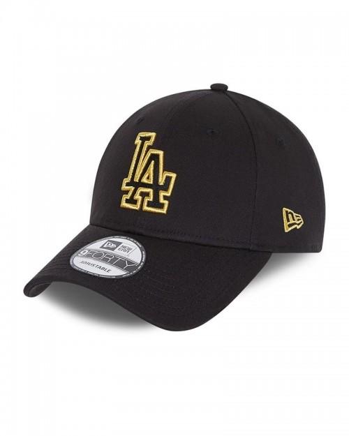NEW ERA 9FORTY LA Dodgers Black Metallic Logo