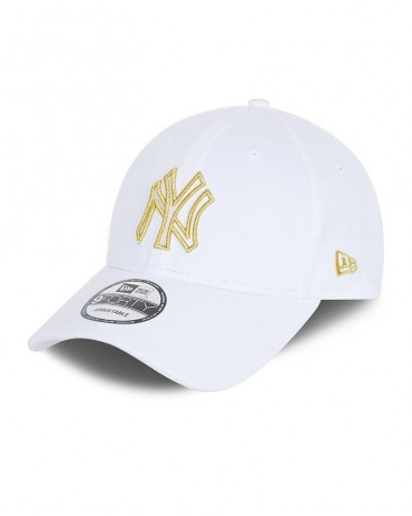 NEW ERA 9FORTY New York Yankees White Metallic Logo