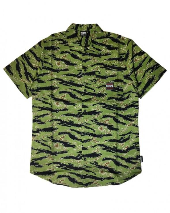 PROPAGANDA Beach Shirt Tiger Camo
