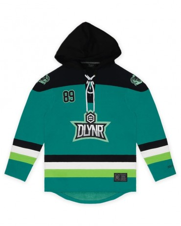 DOLLY NOIRE Green Hockey Hoodie