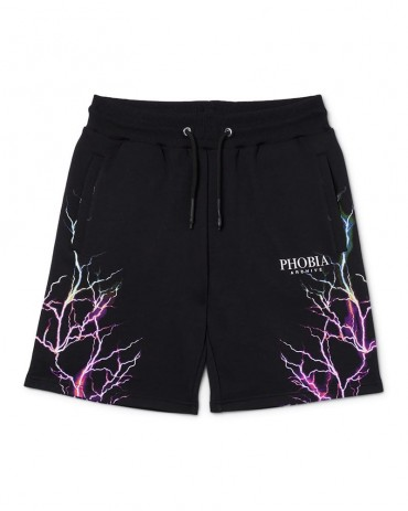 PHOBIA Pink / Light blue Lightning Shorts