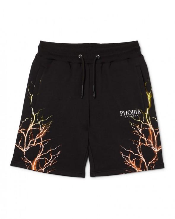 PHOBIA Orange / Yellow Lightning Shorts
