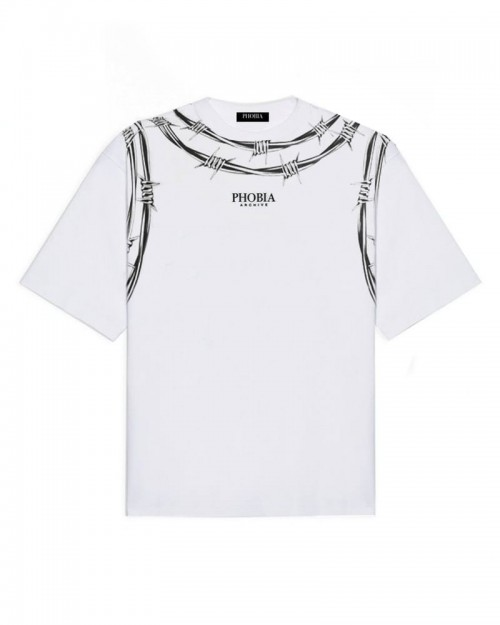 PHOBIA Barbed Wire White T-shirt