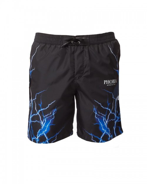 PHOBIA Blue Lightning Swim Shorts