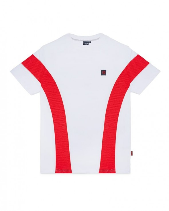 DOLLY NOIRE Tornado White & Red Tee