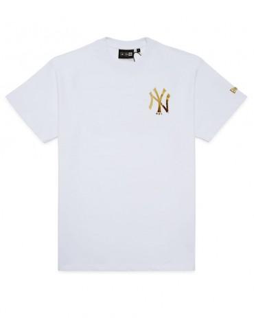 NEW ERA New York Yankees Metallic Logo Tee