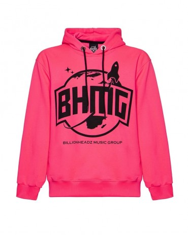 BHMG - Felpa Logo Fucsia Fluo