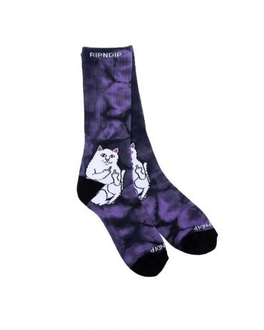 RIPNDIP Lord Nermal Socks Lavender Tie Dye