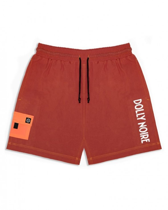 DOLLY NOIRE Thermo Reactive Swimshorts Black & Red