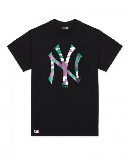 NEW ERA MLB New York Yankees Camo Logo Black Tee