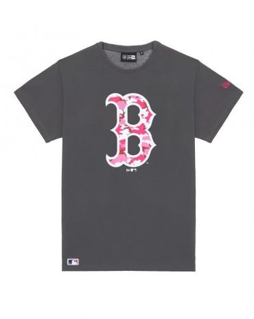 NEW ERA MLB Boston Red Sox Camo Logo Grey Tee