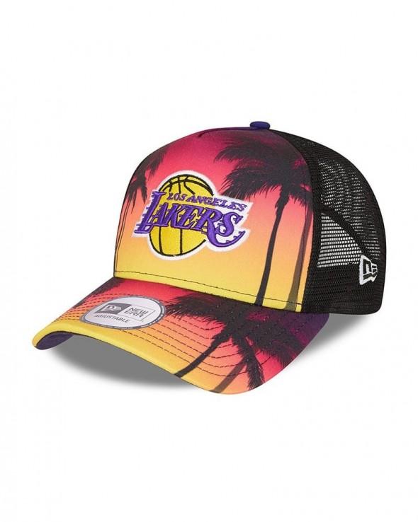 NEW ERA 9FORTY Los Angeles Lakers Trucker Summer City Black