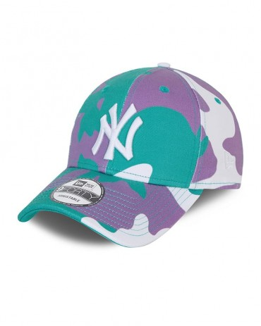 NEW ERA 9FORTY Camo Pack New York Yankees Teal White