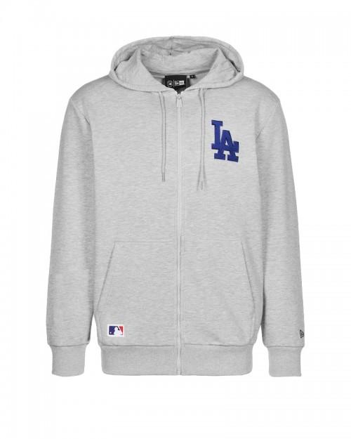 NEW ERA MLB LA Dodgers Felpa con cappuccio e zip grigia