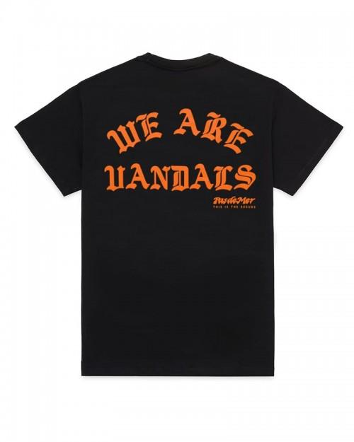 PAS DE MER We Are Vandals T-Shirt Black and Orange