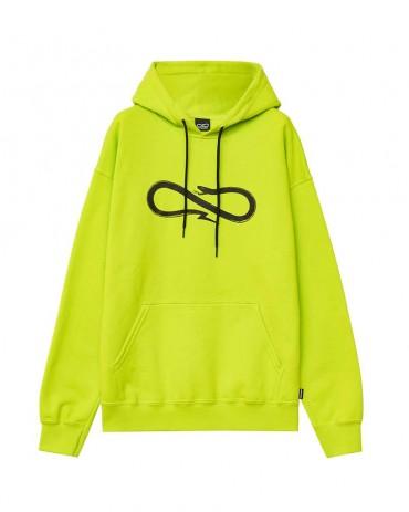 PROPAGANDA Snake Logo Hoodie Lime