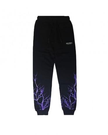 PHOBIA Purple Lightning Black Pants