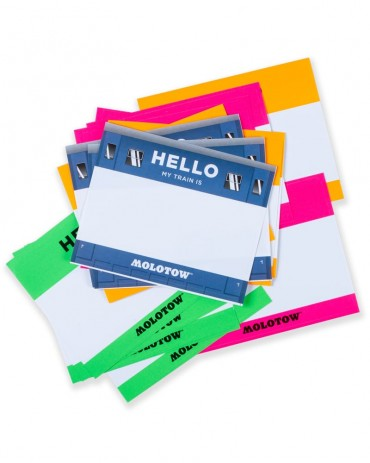 """MOLOTOW - """"Hello my paint is"""" Sticker Pack"""