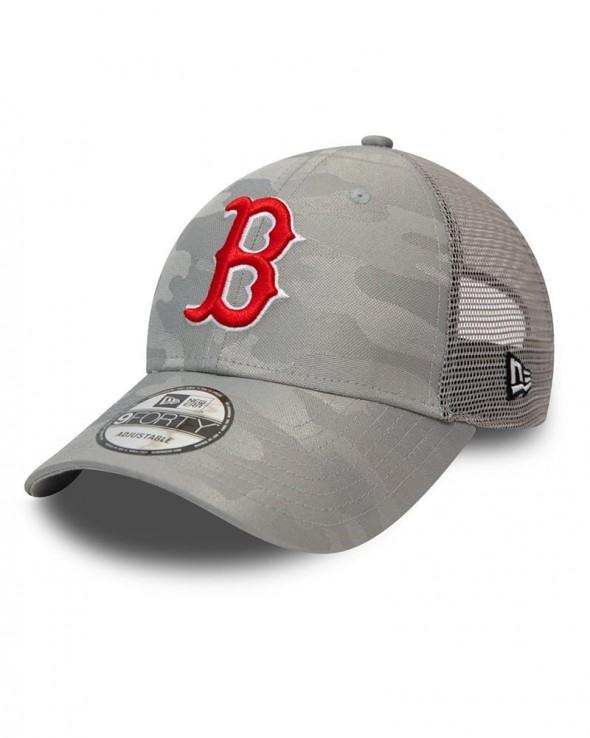 NEW ERA 9FORTY Boston Red Sox Home Field Camo Grey Trucker