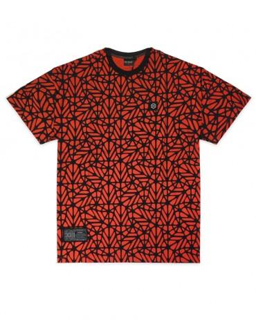 DOLLY NOIRE Bosco Pattern Oversize T-shirt Red