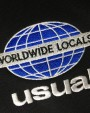 USUAL World Wide Locals Hoodie Black