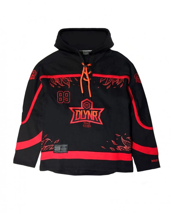 DOLLY NOIRE GOAT Hockey Sport Oversize Red Hoodie