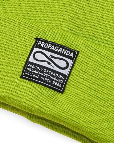 PROPAGANDA Label Beanie Lime