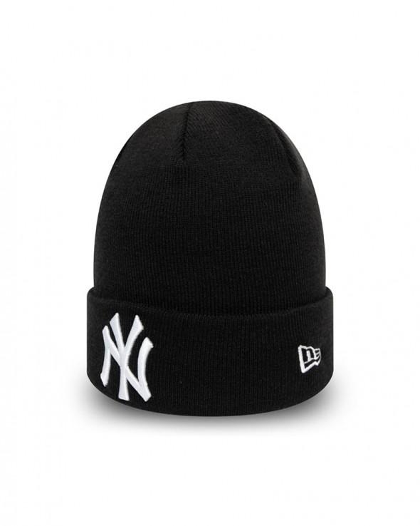 NEW ERA League Essentials New York Yankees Cuff Knit Beanie Black and White