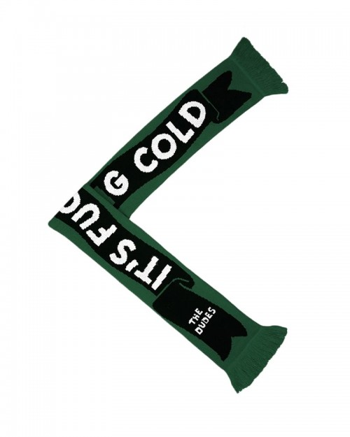 THE DUDES Fucking Cold Green Scarf