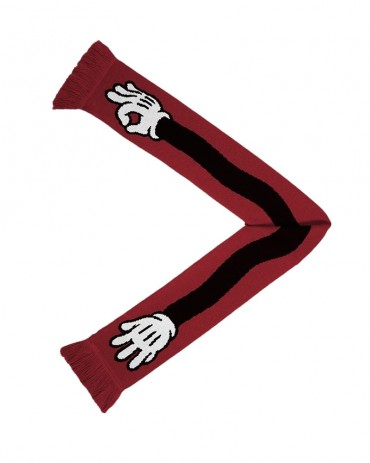 THE DUDES Fucking Cold Red Scarf
