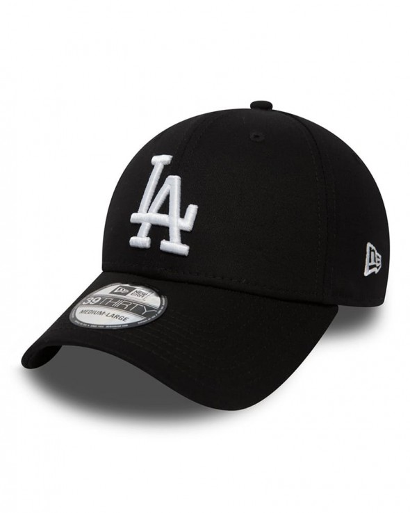 NEW ERA 39THIRTY Los Angeles Dodgers Black and White