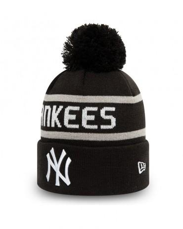 NEW ERA New York Yankees Jake Cuff Knit Bobble Beanie Black