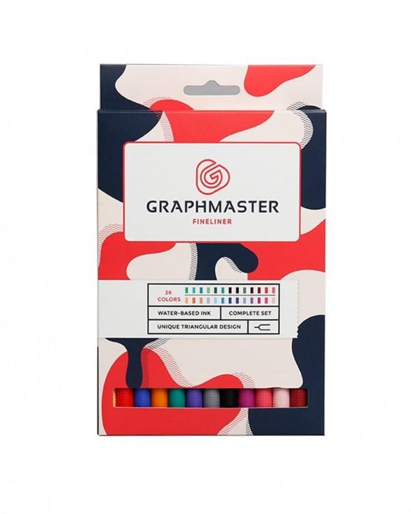 GRAPHMASTER Fineliner 4 mm 26 set